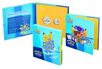 Image 1 for 2017 Bananas in Pyjamas Coloured Frosted Uncirculated Two Coin Set