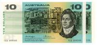 Image 1 for 1976 $10 Pair Knight Wheeler Centre Thread TEU 398585-86 aUNC