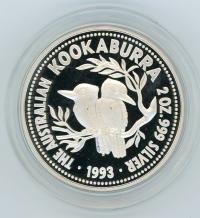 Image 1 for 1993 2oz Kookaburra Proof
