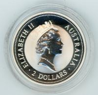 Image 2 for 1994 2oz Kookaburra Specimen with Veiled Head Gold Privy