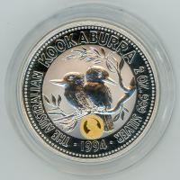 Image 1 for 1994 2oz Kookaburra Specimen with Veiled Head Gold Privy