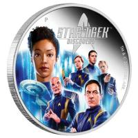 Image 2 for 2019 Star Trek Discovery Crew 2oz Coloured Silver Proof Coin