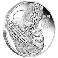 Image 3 for 2020 Year of the Mouse Half oz Silver Proof Coin