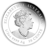 Image 4 for 2020 Year of the Mouse Half oz Silver Proof Coin