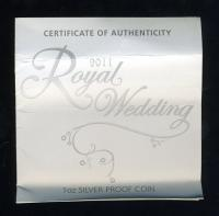 Image 3 for 2011 Royal Wedding H.R.H. Prince William of Wales and Catherine Middleton Coloured 1oz Silver Proof Coin