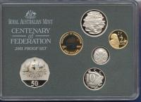 Image 3 for 2001 Six Coin Proof Set - Centenary of Federation
