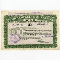 Image 1 for 1945 £1 War Savings Certificate - AD384720