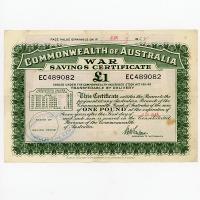 Image 1 for June 1945 £1 War Savings Certificate - EC489082