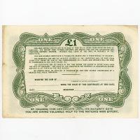 Image 2 for October 1945 £1 War Savings Cerrtificate FC521433