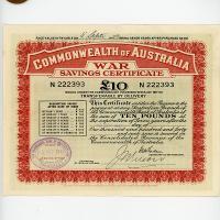 Image 1 for 1942 £10 War Savings Certificate N222393 Haymarket