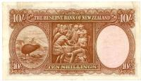 Image 2 for 1940's New Zealand Ten Shillings Hanna VF - 048 777286