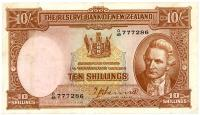 Image 1 for 1940's New Zealand Ten Shillings Hanna VF - 048 777286