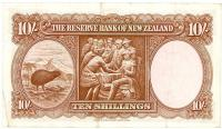 Image 2 for 1950's New Zealand Ten Shillings Wilson VF - BO808384