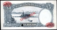 Image 2 for 1960 New Zealand Specimen Five Pound - Fleming H8 000000 UNC