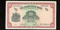 Image 1 for 1960s Charted Bank Hong Kong $10 UG 4720910 gVF