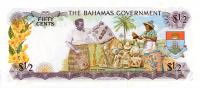 Image 2 for 1965 Bahamas Fifty Cents UNC A143774