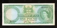 Image 1 for 1965 Fiji One Pound Banknote C20 46849 VF