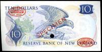 Image 2 for 1967 New Zealand Specimen Ten Dollar - Fleming AO 000000 UNC