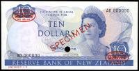 Image 1 for 1967 New Zealand Specimen Ten Dollar - Fleming AO 000000 UNC