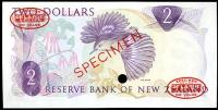 Image 2 for 1967 New Zealand Specimen Two Dollar - Fleming AOA 000000 UNC