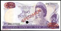 Image 1 for 1967 New Zealand Specimen Two Dollar - Fleming AOA 000000 UNC
