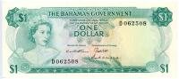 Image 1 for 1968 Bahamas $1 Note D062508 aUNC