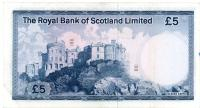 Image 2 for 1978 Royal Bank of Scotland Five Pound Note A60 600139 VF