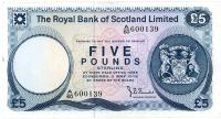 Image 1 for 1978 Royal Bank of Scotland Five Pound Note A60 600139 VF
