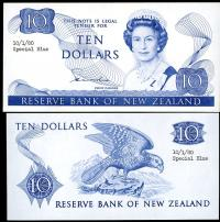 Image 1 for 1980 New Zealand Uniface Colour Trial Ten Dollar - UNC and Rare