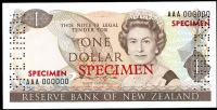 Image 1 for 1981 New Zealand Specimen One Dollar - Hardie AAA 000000 UNC