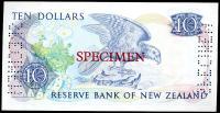 Image 2 for 1981 New Zealand Specimen Ten Dollar - Hardie NAA 000000 UNC