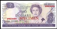 Image 1 for 1981 New Zealand Specimen Two Dollar - Hardie EAA 000000 UNC