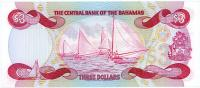 Image 2 for 1984 Bahamas Three Dollar Note UNC A881793