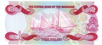 Image 2 for 1984 Bahamas Three Dollar Note UNC A535330