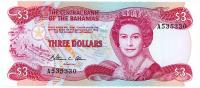 Image 1 for 1984 Bahamas Three Dollar Note UNC A535330