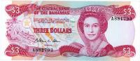 Image 1 for 1984 Bahamas Three Dollar Note UNC A881793