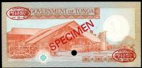 Image 2 for 1985 Tonga Specimen Twenty Pa'anga A1 000000 UNC