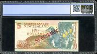 Image 2 for 1992 New Zealand $5.00 Specimen PCGS 66 Gem UNC