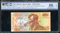 Image 1 for 1992 New Zealand $5.00 Specimen PCGS 66 Gem UNC