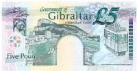 Image 2 for 2000 Gibraltar Five Pound Note MM 005479 UNC