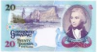 Image 2 for 2006 Gibraltar Twenty Pound Note AB 473446 UNC