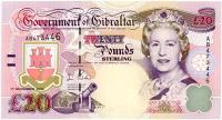 Image 1 for 2006 Gibraltar Twenty Pound Note AB 473446 UNC