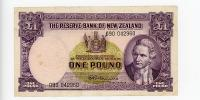 Image 1 for 1960's New Zealand One Pound 090 042960 VF