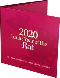 Image 1 for 2020 Lunar Year of the Rat Uncirculated Fifty Cent Tetra Decagon Series