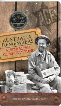 Image 1 for 2014 Twenty Cent Uncirculated Coin - Australia Remembers Australia's Comfort Fund