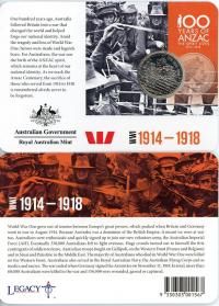 Image 1 for 2015 Anzacs Remembered - 1914 until 1918