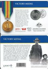 Image 1 for 2017 Legends of the ANZACS - Victory Medal