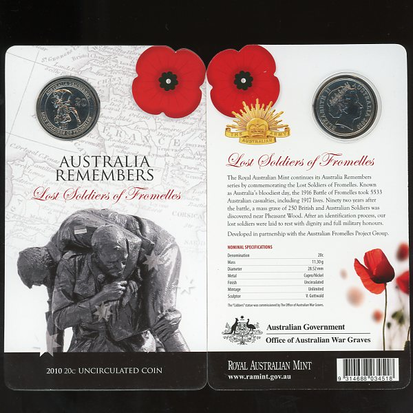 Thumbnail for 2010 Australia Remember  - Lost Soldiers of Fromelles