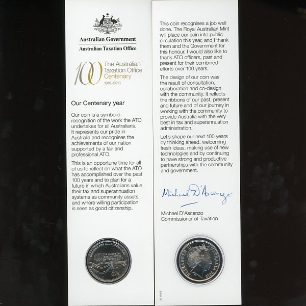 Thumbnail for 2010 Centenary of Australian Taxation Office