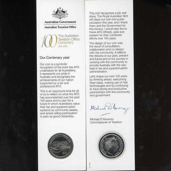 Thumbnail for 2010 Centenary of Australian Taxation Office